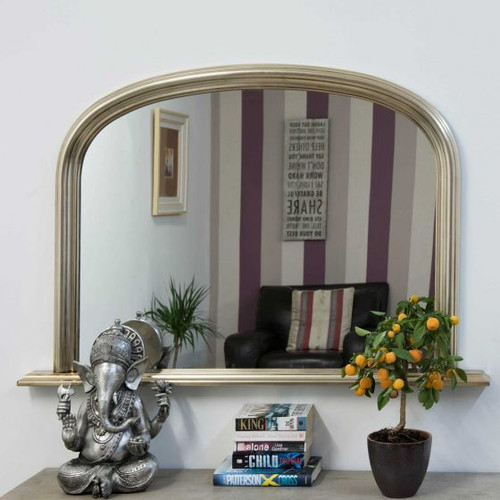 THE SILVER CLASSIC OVERMANTLE MIRROR