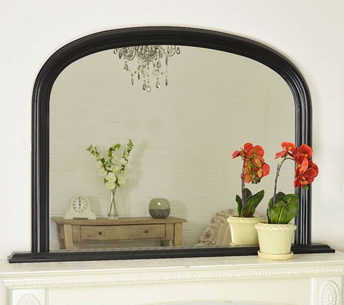 THE BLACK CLASSIC OVERMANTLE MIRROR