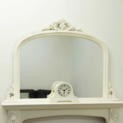 THE WHITE CRESTED OVERMANTLE MIRROR