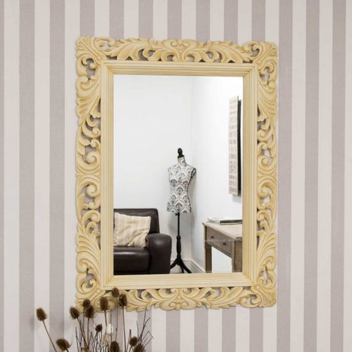 THE CREAM SCROLL MIRROR