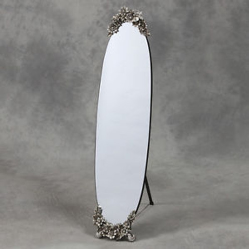 THE ROSEBERRY OVAL CHEVAL MIRROR
