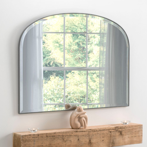 THE DARK GREY SIMPLICITY OVERMANTLE MIRROR