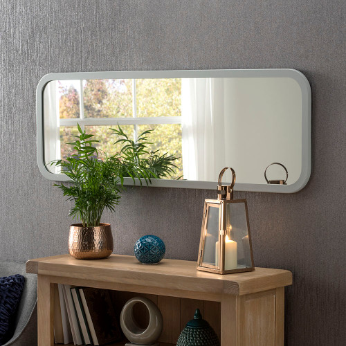 THE LIGHT GREY OBLONG GENEVA MIRROR