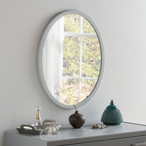 THE LIGHT GREY OVAL GENEVA MIRROR