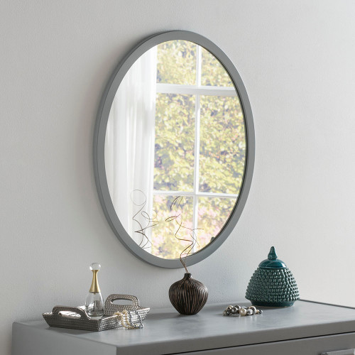 THE DARK GREY OVAL GENEVA MIRROR