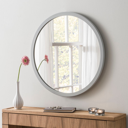 THE LIGHT GREY CIRCULAR GENEVA MIRROR