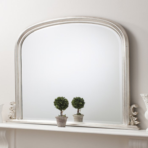 THE SILVER THORTON OVERMANTEL MIRROR