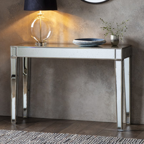 THE FLORENCE ANTIQUED MIRRORED TABLE