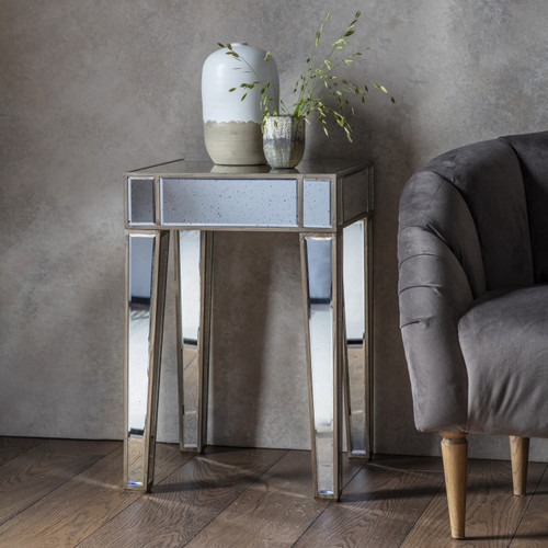 FLORENCE ANTIQUED SIDE TABLE