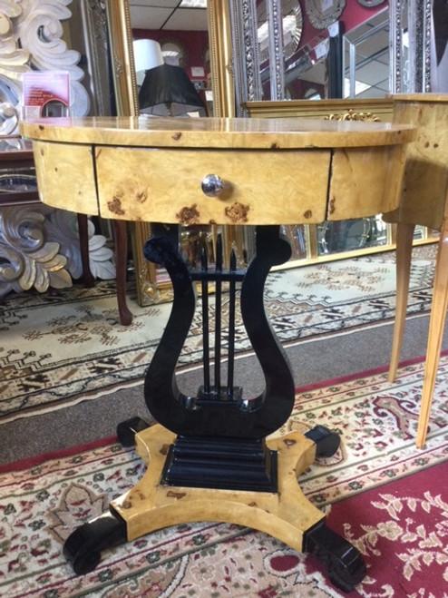 ART DECO HARP SIDE TABLE