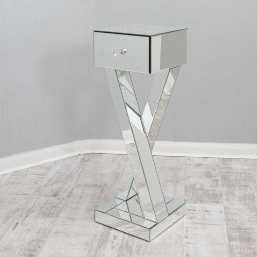 MIRRORED HALL/SIDE TABLE