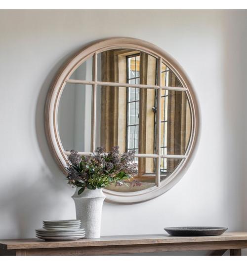THE SHABBY CHIC CIRCULAR WINDOW MIRROR