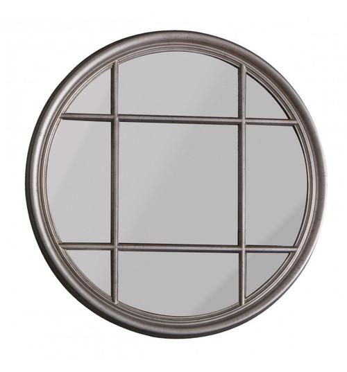 THE SILVER CIRCULAR WINDOW MIRROR