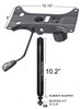 Combination Heavy Duty Tilt Swivel Rocker Seat Plate Mechanism with Gas Spring Rated 350 lbs