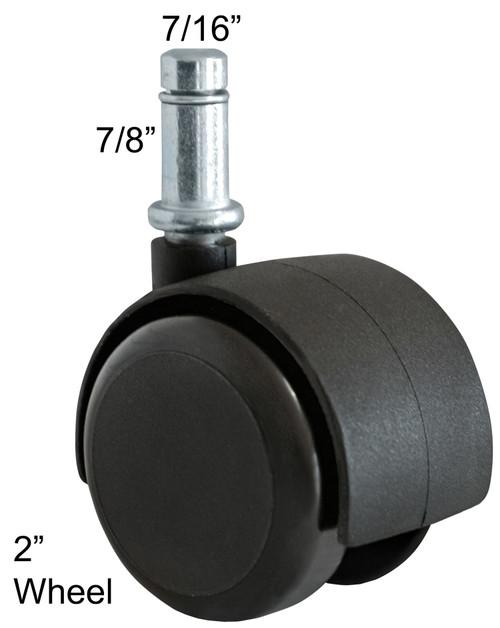 Soft Wheel Casters for Hardwood Laminate Floors 5 pc Set