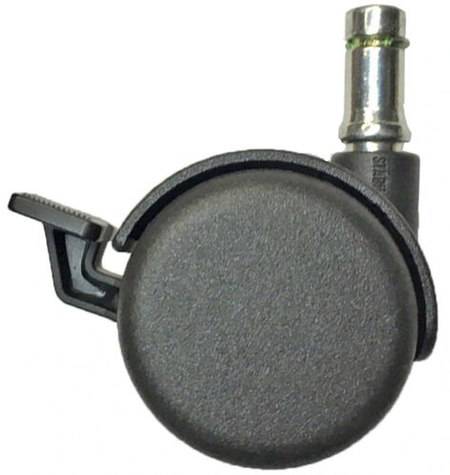 office chair caster with brake grip ring stem