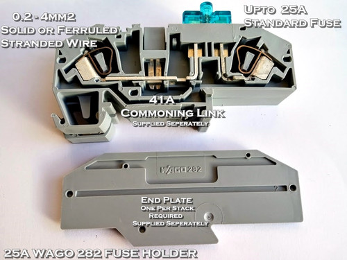 25A Din Rail Mounting Standard ATO Blade Fuse Holder