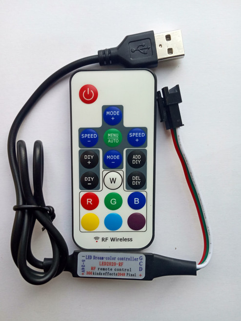 RF Remote Control Pixel Controller with USB Plug