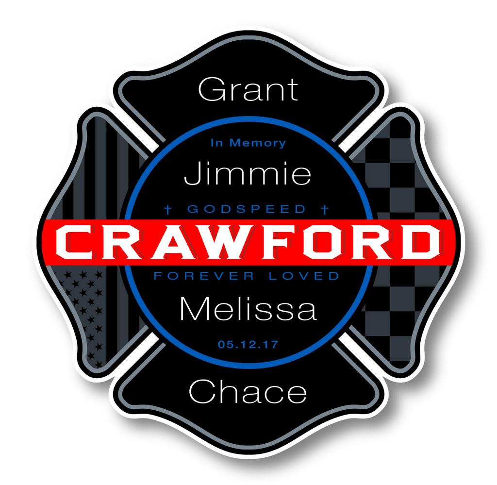 "Crawford Memorial - 3.5"" Decal"