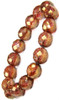 Rose with Copper Czech Glass Stretchy Bracelet from 2 Lisas Boutique