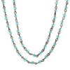 Silver and Aqua Short or Long Rhinestone Necklace from Jane Marie Jewelry sold by 2 Lisas Boutique