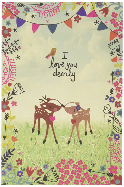 I Love You Deerly Greeting Card by Natural Life (CARD025)