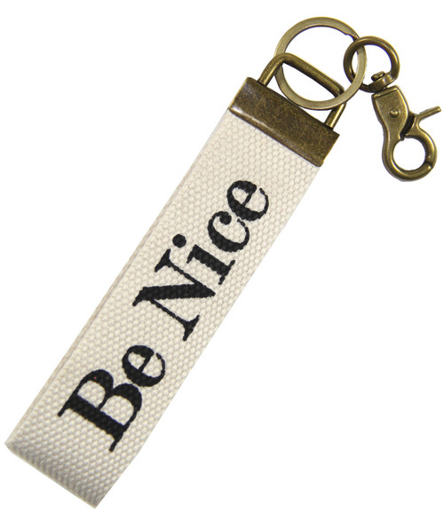 Be Nice Wrist Key Fob by Jules