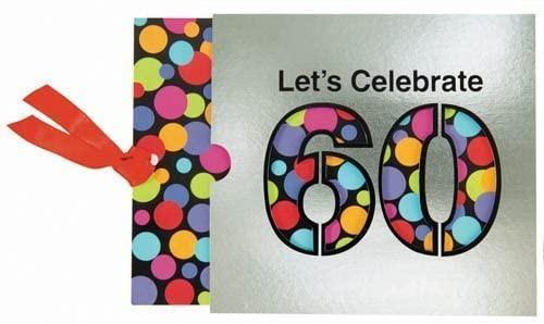 Let's Celebrate 60 Party Invites, 8 Count (60-INVITE)