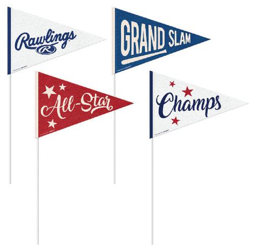 Rawlings Major League Baseball Small Pennants 4 Pack