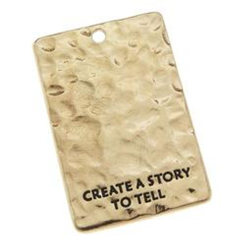 Create A Story To Tell Antique Gold Blank