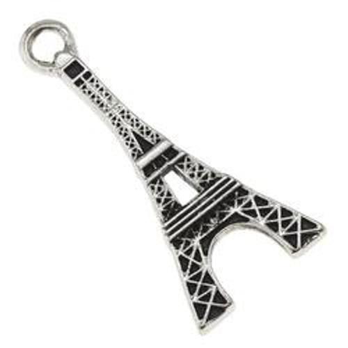 Antique Silver Eiffel Tower Pendant
