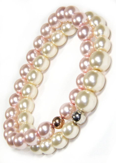 Two Stack Preciosa Pearl Stretchy Bracelets with Accents sold by 2 Lisas Boutique