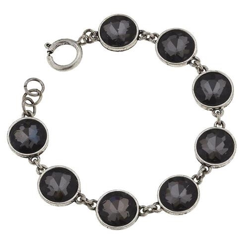 Black Diamond Rhinestone and Silver Bracelet from Jane Marie Jewelry sold by 2 Lisas Boutique