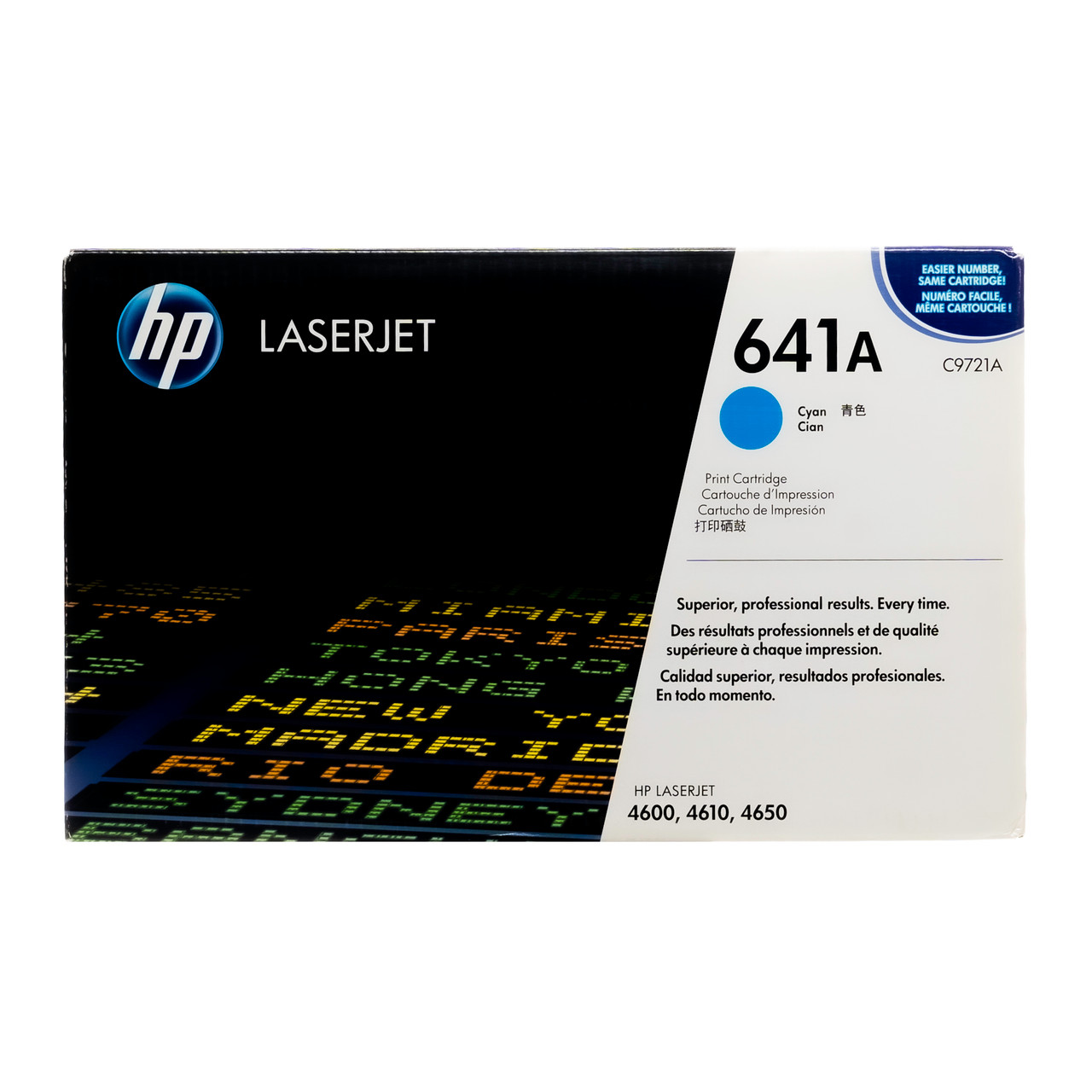 Lot 2 C9721A 641A Genuine HP Cyan Toner Color Laserjet 4600 4600DN 4600DTN