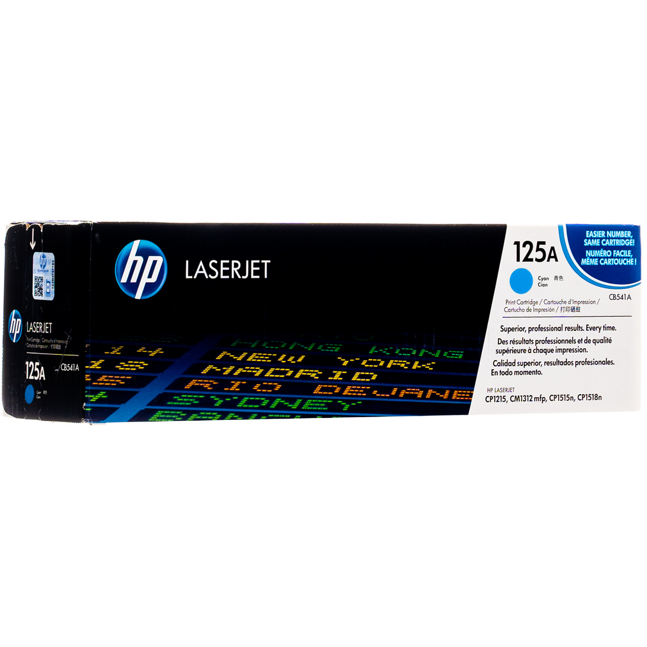 Set-of-4-HP-Genuine 125A Toner-CB540A-CB541A-CB542A-CB543A-OEM-New  Unopened