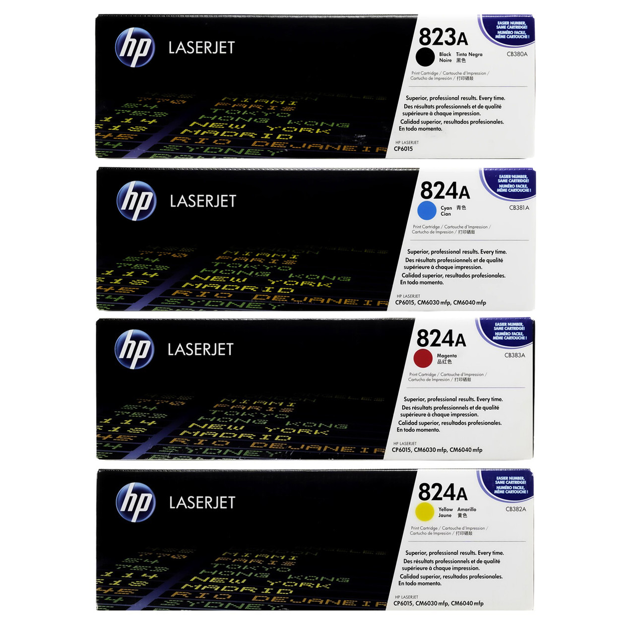 NEW Genuine HP CB382A Yellow  824a  Toner CP6015 SEALED
