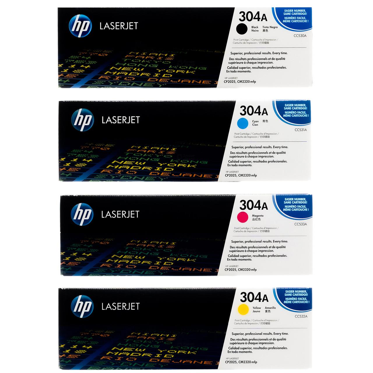 Genuine HP Color LaserJet 304A CC532A Yellow