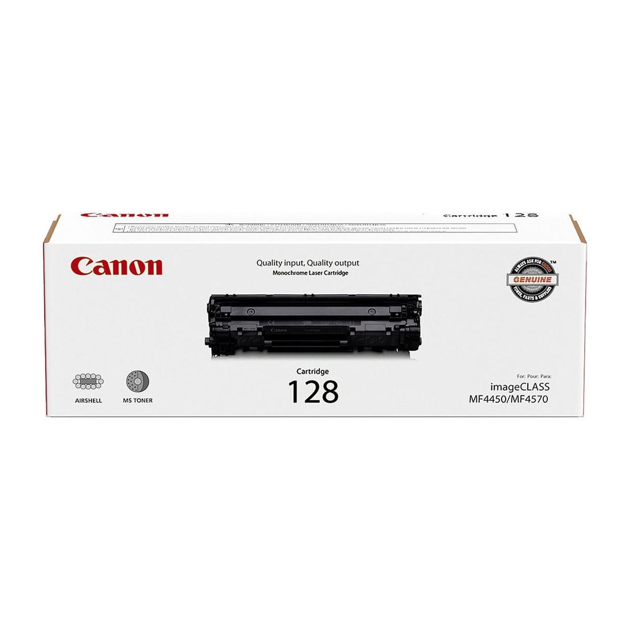 Original Canon 128 3500b001aa Black Laser Toner Cartridge Toner Buzz