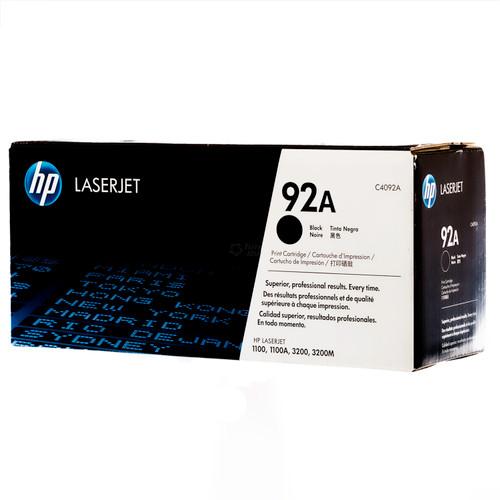 Original HP 92A C4092A Black LaserJet Toner Cartridge