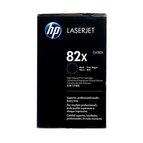 Original HP 82X C4182X Black High-Yield LaserJet Toner Cartridge