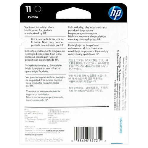 Original HP 11 Black Printhead Cartridge