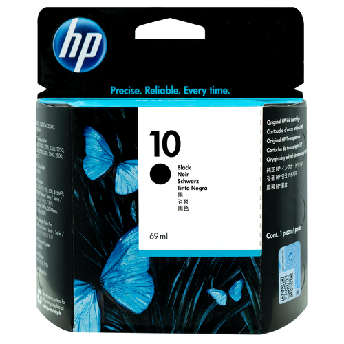 Original HP 10 Black Ink Cartridge