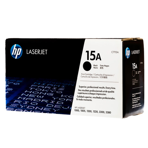 Original HP 15A C7115A Black LaserJet Toner Cartridge