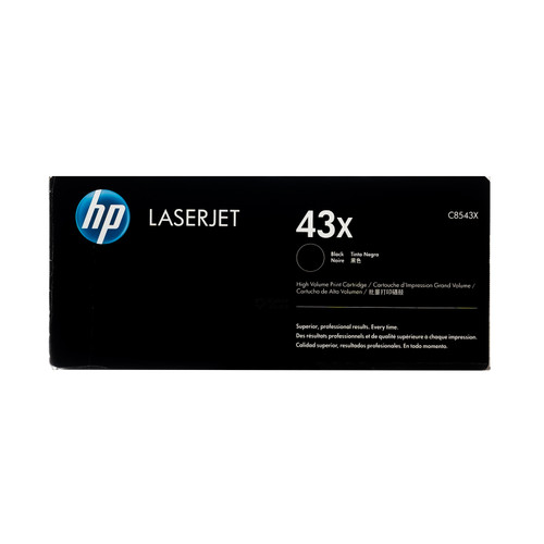 Original HP 43X C8543X Black High-Yield LaserJet Toner Cartridge