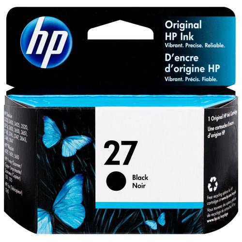 C8727AN   HP 27   Original HP Ink Cartridge – Black