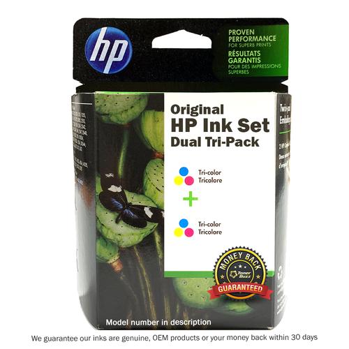 Original HP 97 2-pack Tri-color Ink Cartridges