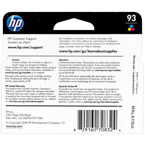 C9361WN | HP 93 | Original HP Ink Cartridge – Tri-Color