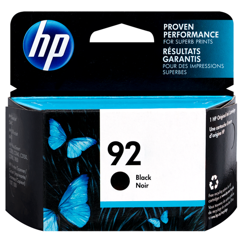Original HP 92 Black Ink Cartridge