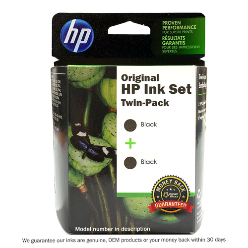 Original HP 02 Twin Pack Black Ink Cartridge C9500FN