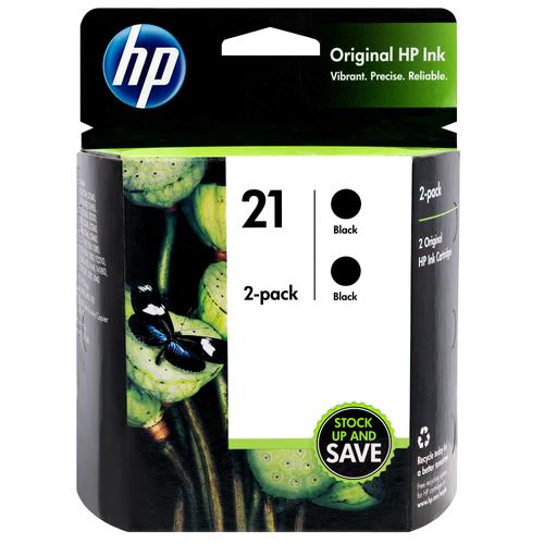C9508FN | HP 21 | Original HP Ink Cartridge 2-Pack - Black